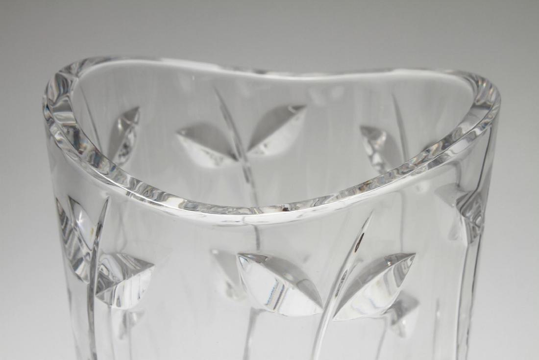 "Tiffany & Co. Hand-Cut Crystal ""Floral Vine"" Vase - 4"