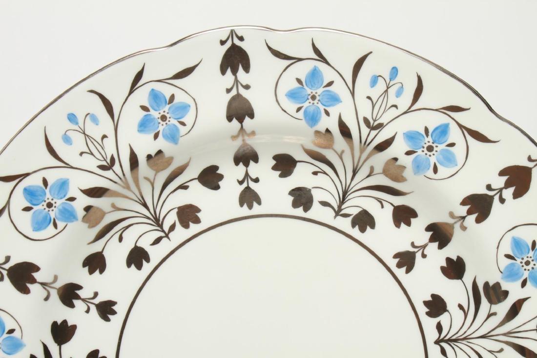 Wedgwood Platinum Lustre Anemones Dinner Plates 12 - 2