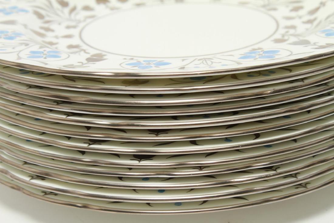Wedgwood Platinum Lustre Anemones Dinner Plates 12 - 5