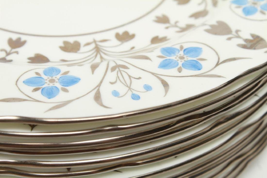 Wedgwood Platinum Lustre Anemones Dinner Plates 12 - 6