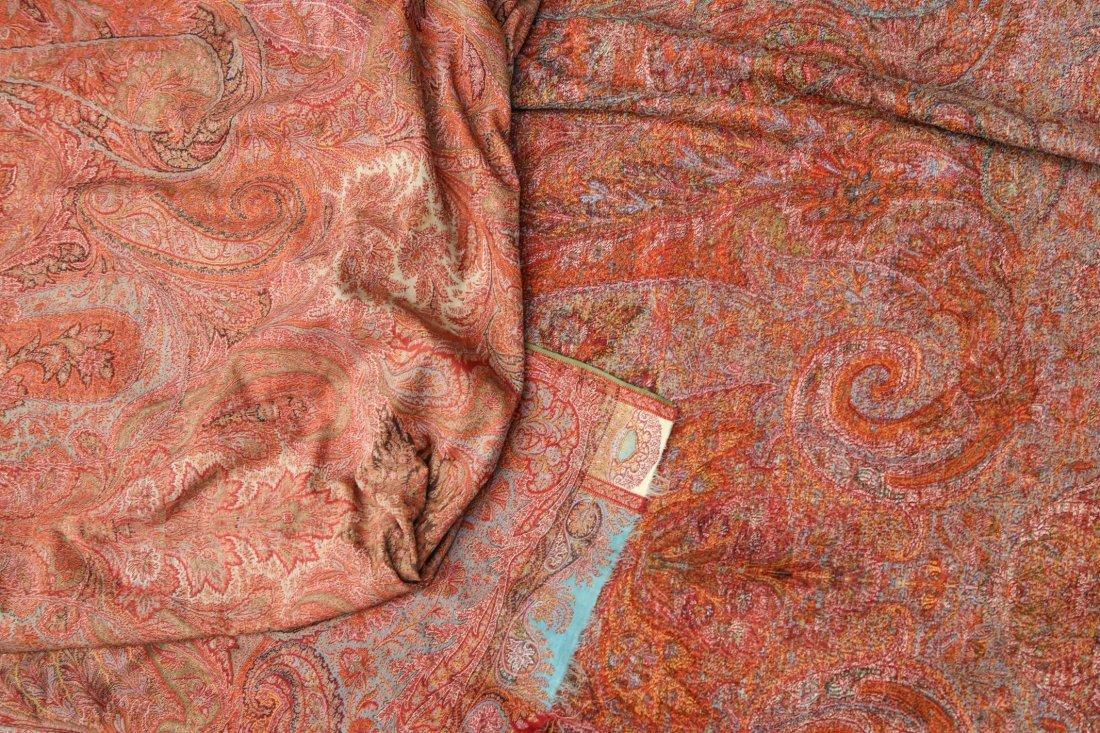 Antique Scottish Wool & Silk Shawl, 19th C. - 2