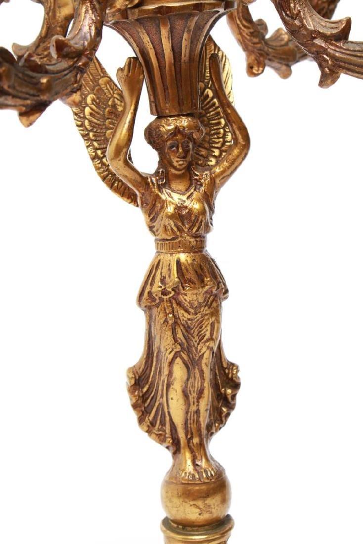 Neoclassical-Manner Gilt Bronze Candelabra Lamps-2 - 2