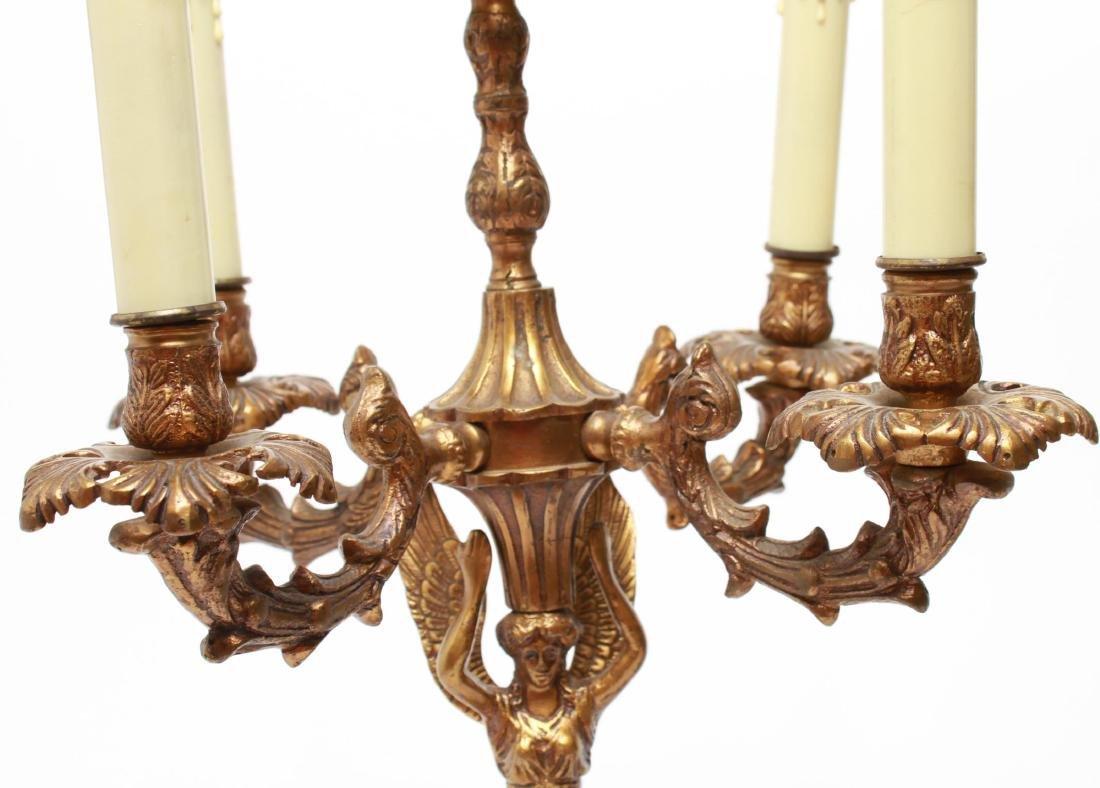 Neoclassical-Manner Gilt Bronze Candelabra Lamps-2 - 3