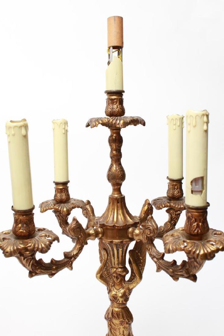 Neoclassical-Manner Gilt Bronze Candelabra Lamps-2 - 6