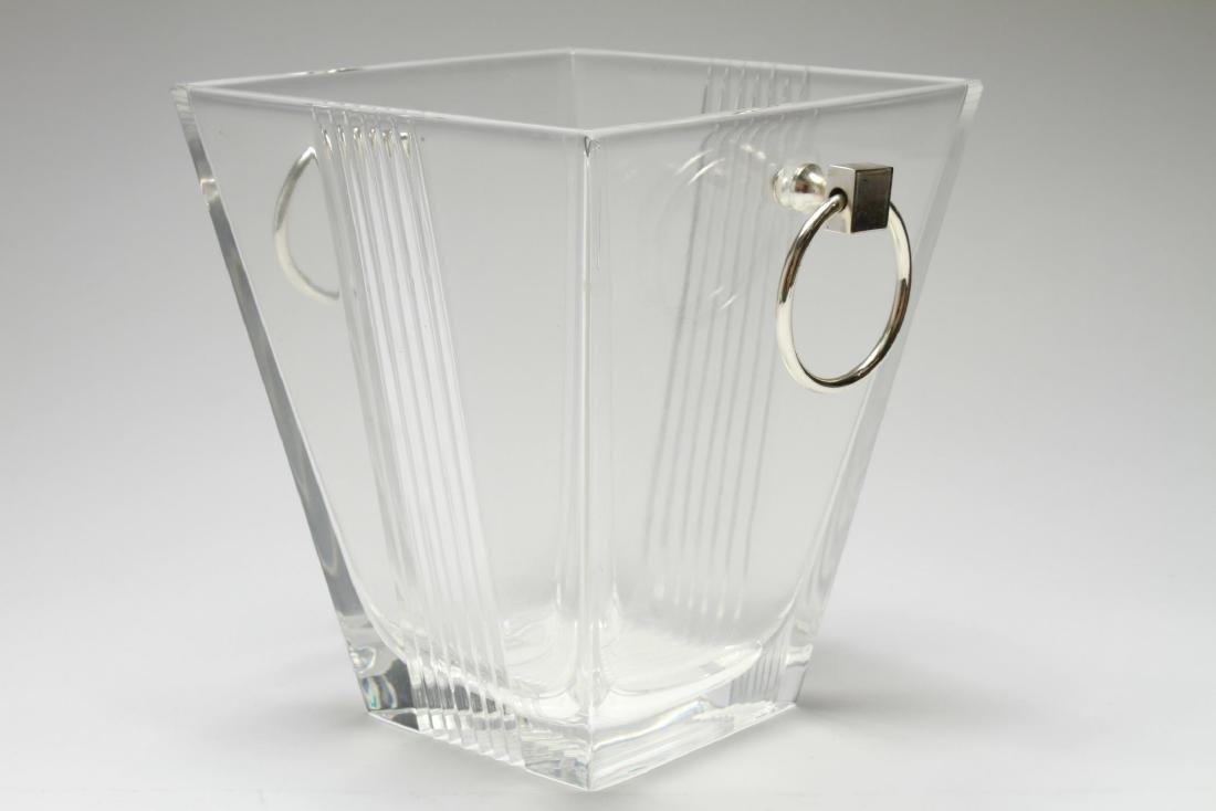"""Tiffany & Co. """"Metropolis"""" Crystal Ice Bucket - 4"""