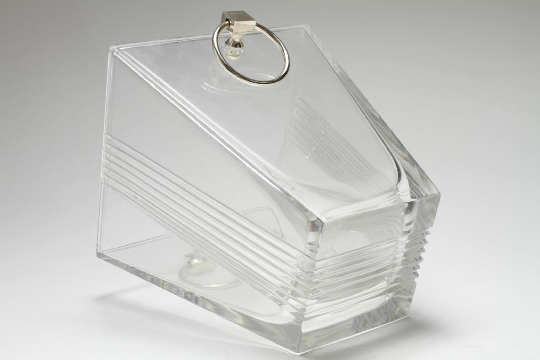 """Tiffany & Co. """"Metropolis"""" Crystal Ice Bucket - 5"""
