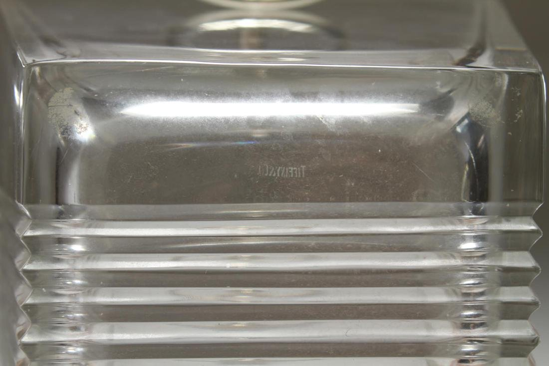 """Tiffany & Co. """"Metropolis"""" Crystal Ice Bucket - 9"""