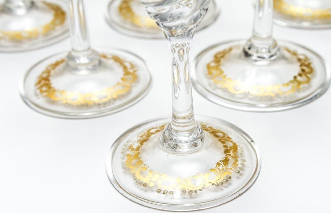 Salviati Murano Venetian Gilt Cordial Glasses, 10 - 3