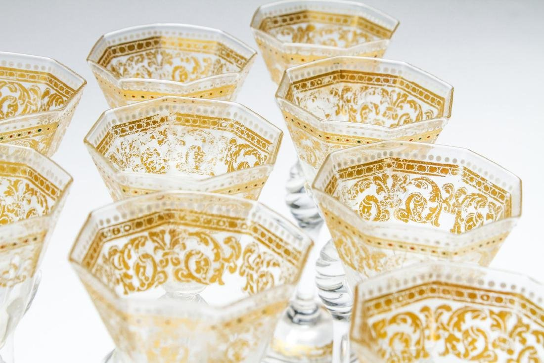 Salviati Murano Venetian Gilt Cordial Glasses, 10 - 5