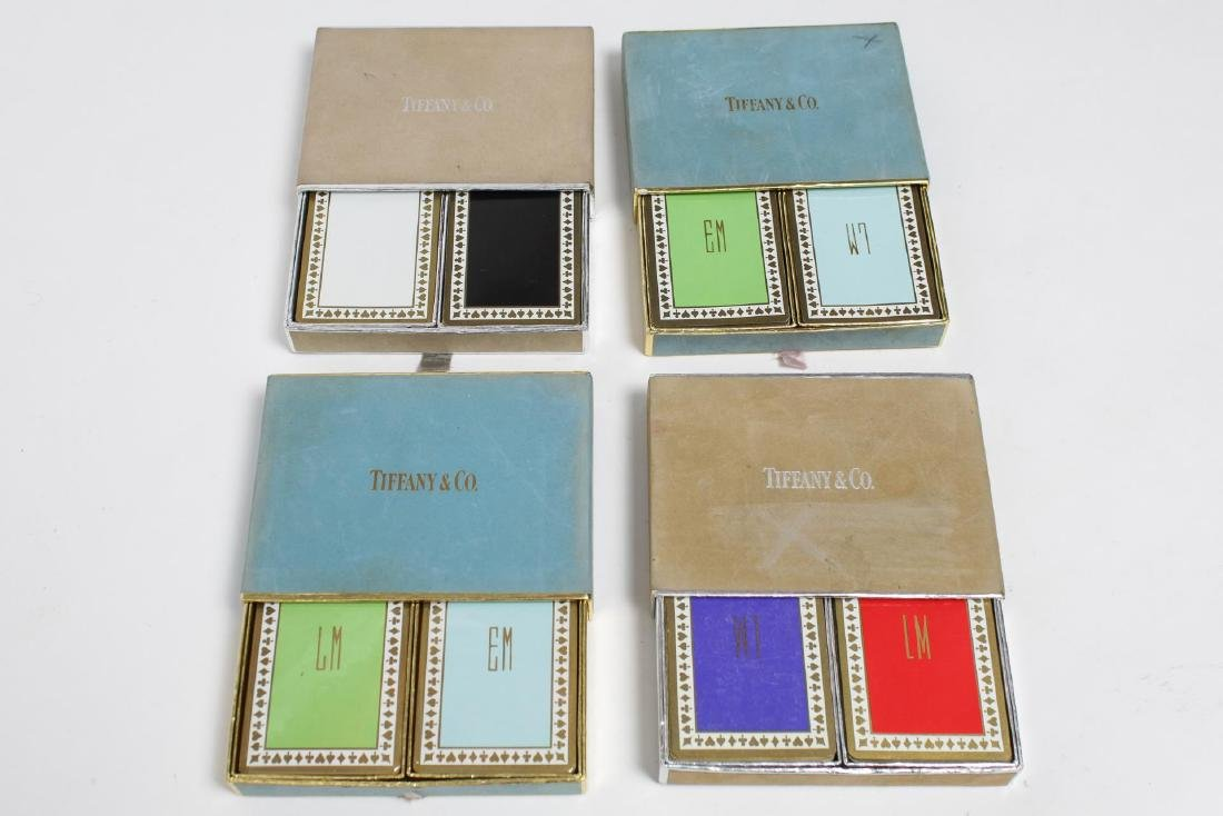 Tiffany & Co. Vintage Cased Playing Cards, 8 Sets