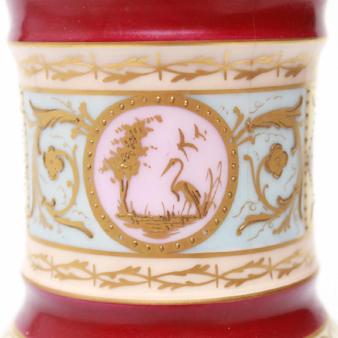 Royal Vienna-Manner Porcelain Goblet, 19th C. - 3
