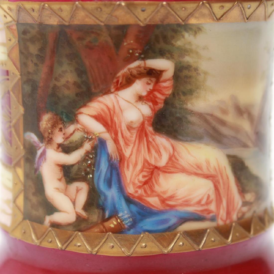 Royal Vienna-Manner Porcelain Goblet, 19th C. - 4