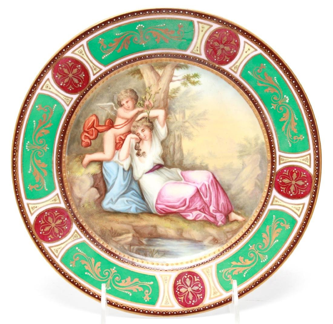 Royal Vienna-Manner Porcelain Cabinet Plate