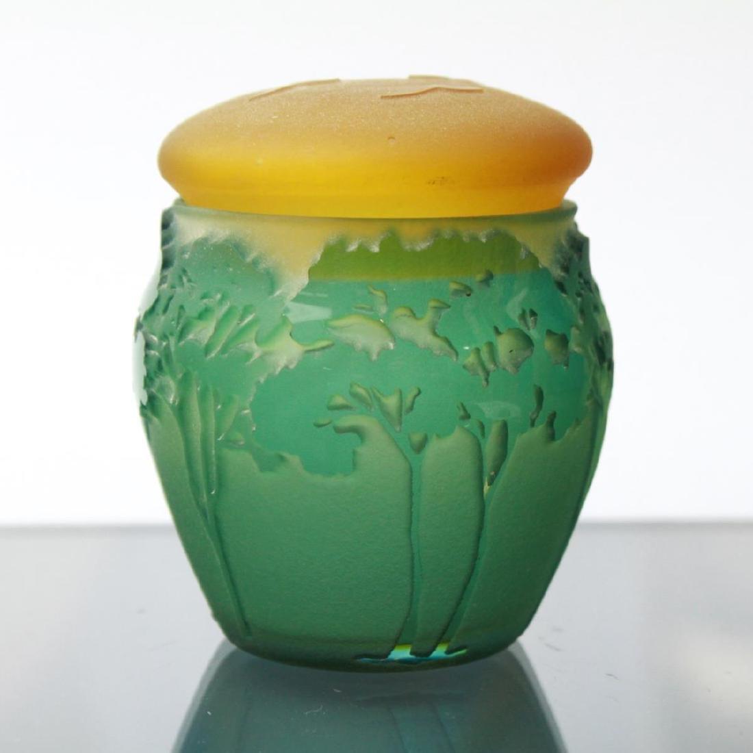 Kelsey Murphy Pilgrim Cameo Glass Covered Jar