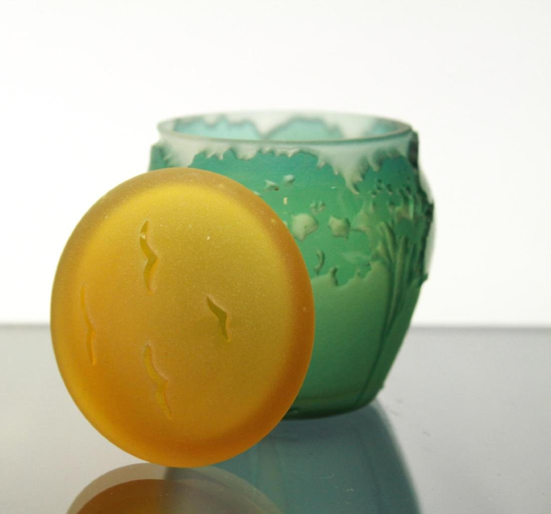 Kelsey Murphy Pilgrim Cameo Glass Covered Jar - 2