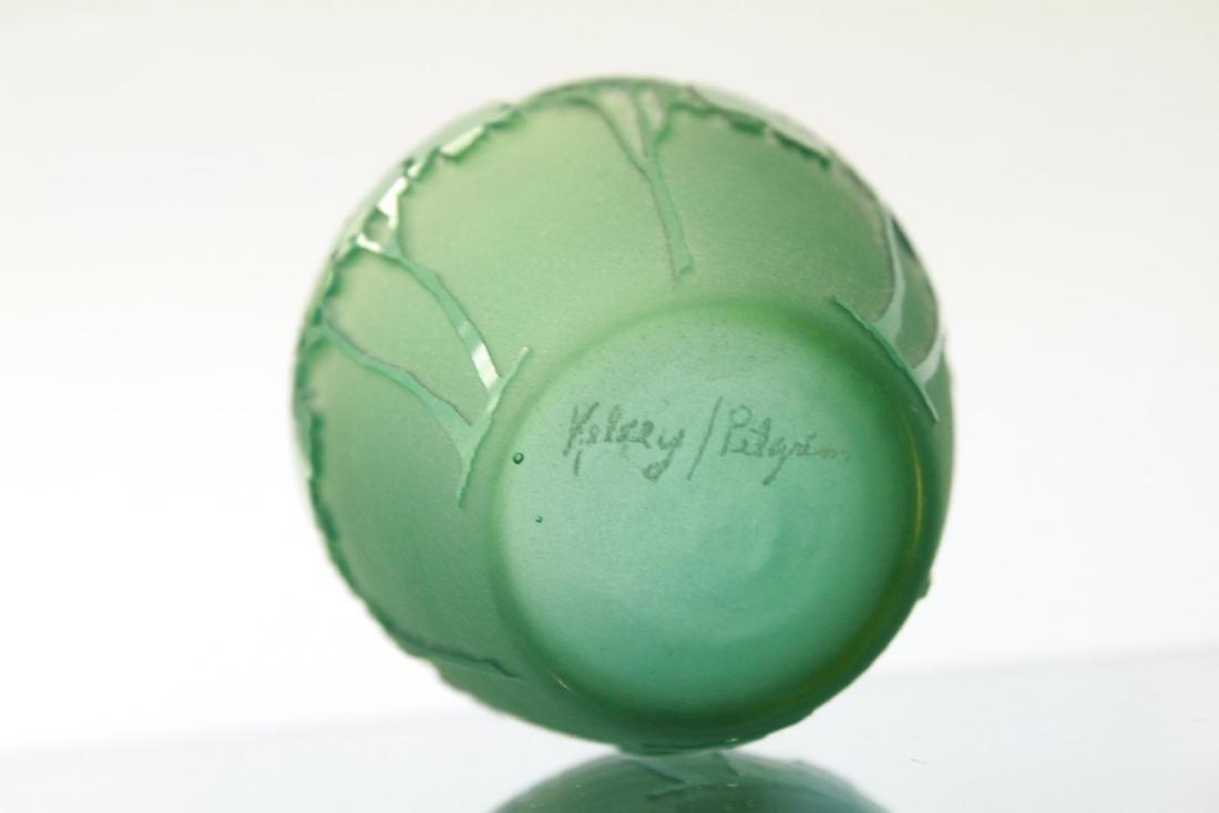 Kelsey Murphy Pilgrim Cameo Glass Covered Jar - 3