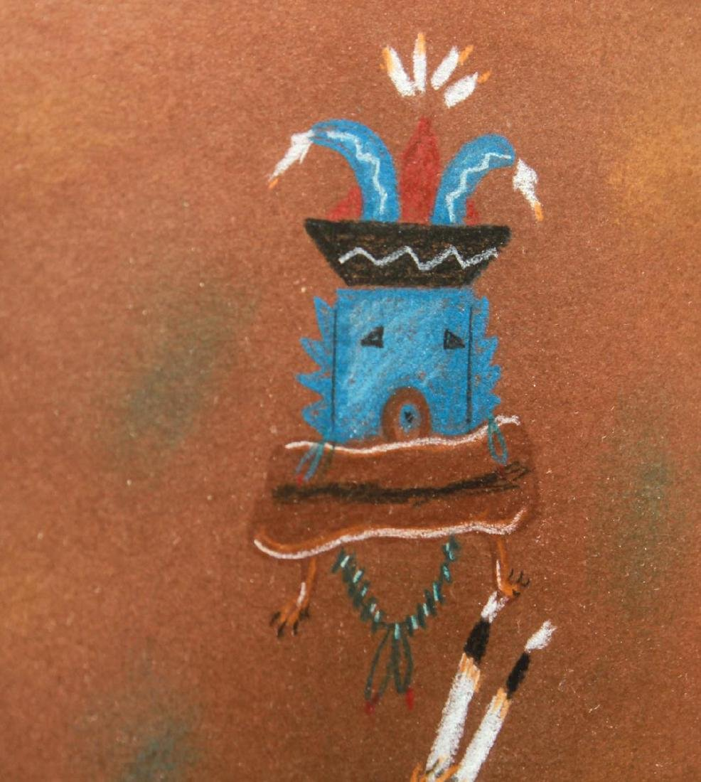 Beatien Yazz, Kachina Heads - Mixed Media on Paper - 3