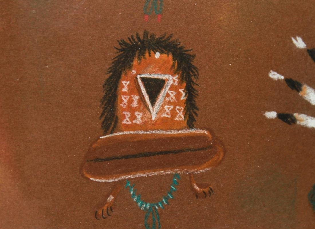 Beatien Yazz, Kachina Heads - Mixed Media on Paper - 6