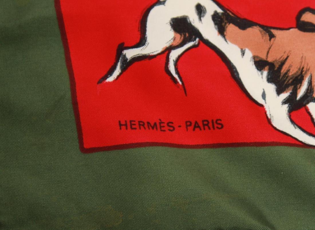 """Hermes Silk Scarf """"La Poursuite,"""" Vintage - 2"""