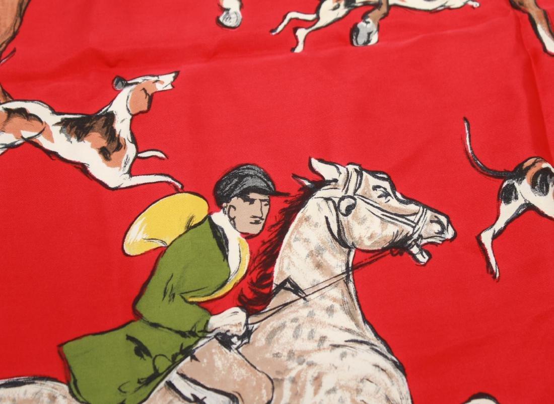 """Hermes Silk Scarf """"La Poursuite,"""" Vintage - 3"""