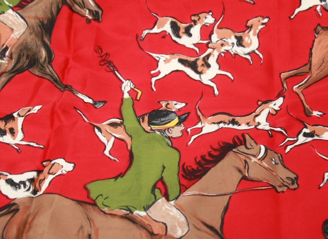 """Hermes Silk Scarf """"La Poursuite,"""" Vintage - 4"""