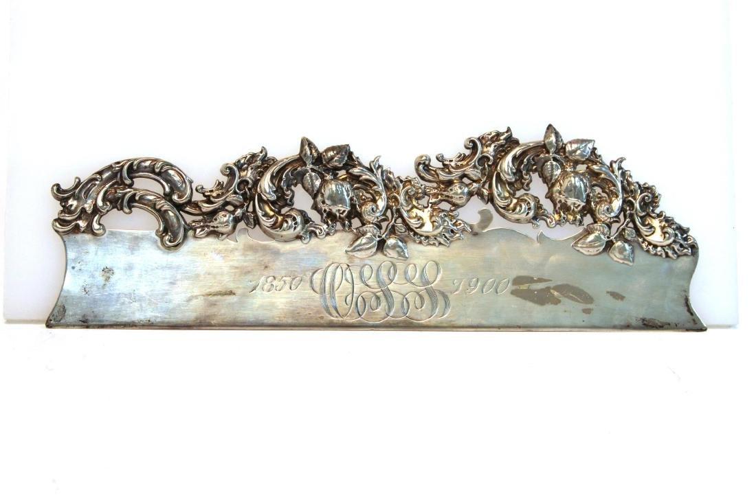 Baroque-Manner Sterling Butler's Table Crumber