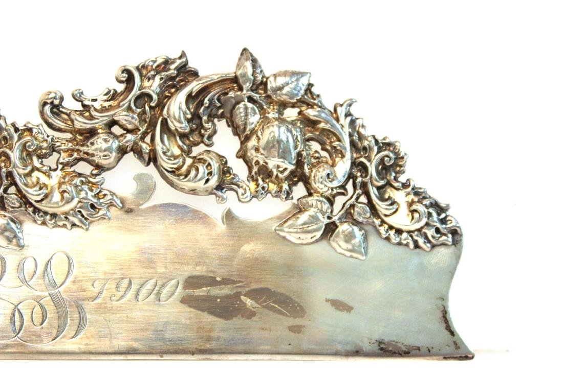 Baroque-Manner Sterling Butler's Table Crumber - 4
