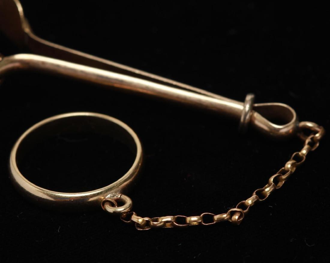 14K Gold Lady's Enamel Cigarette Holder w. Ring - 4