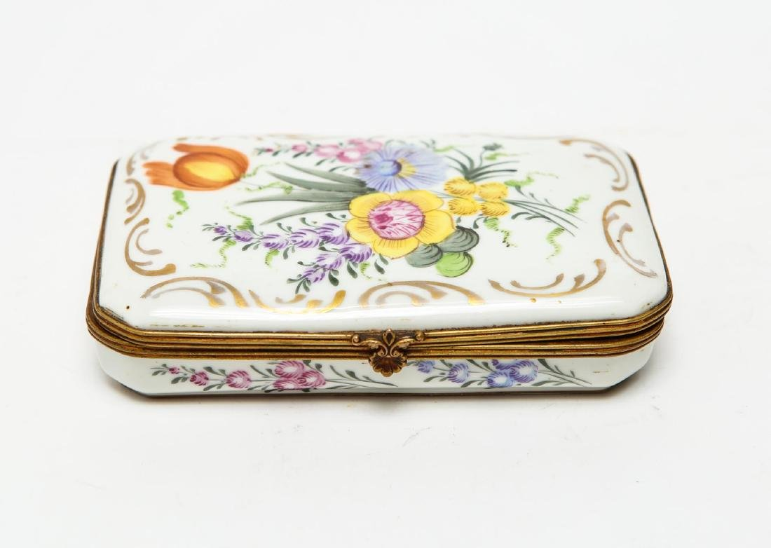 French Porcelain Limoges Trinket Box, Antique