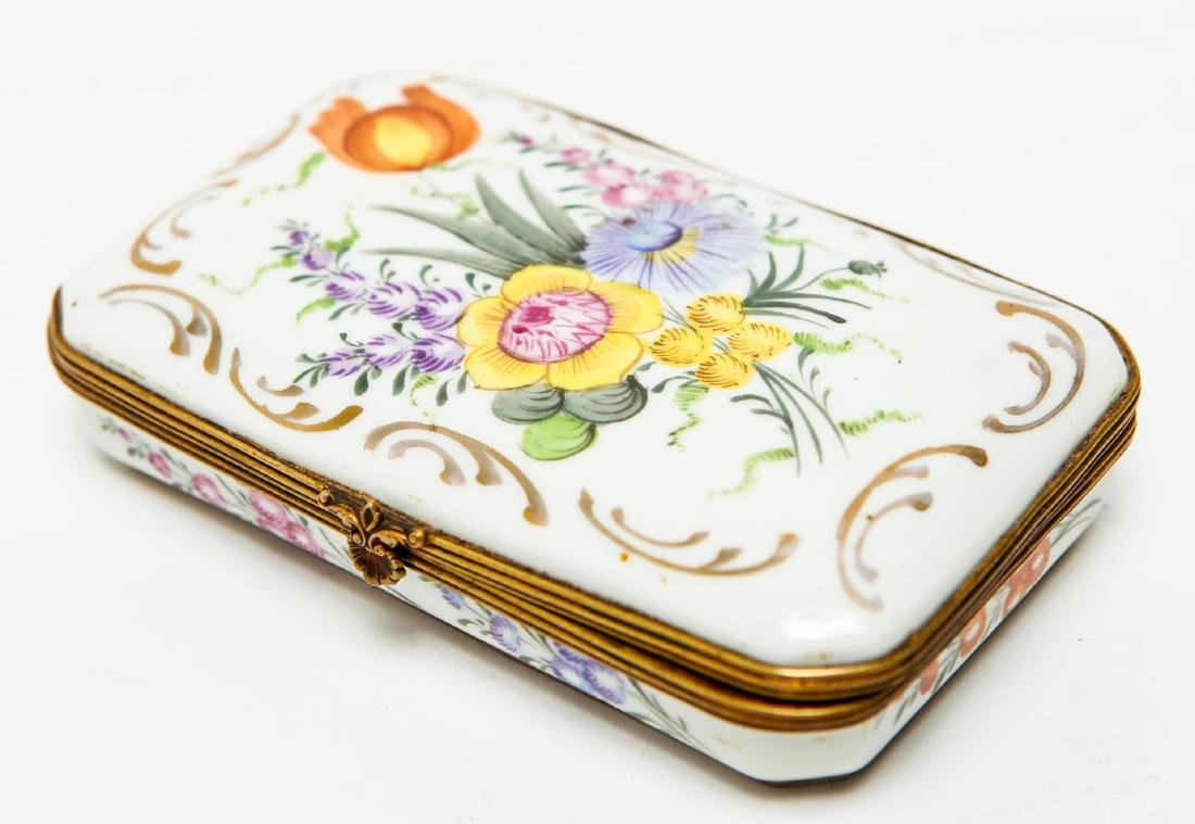 French Porcelain Limoges Trinket Box, Antique - 2