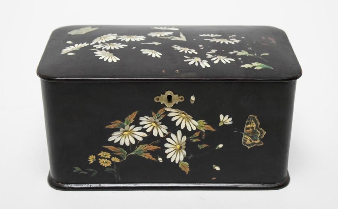 Victorian Japonaise Lacquer Tea Caddy