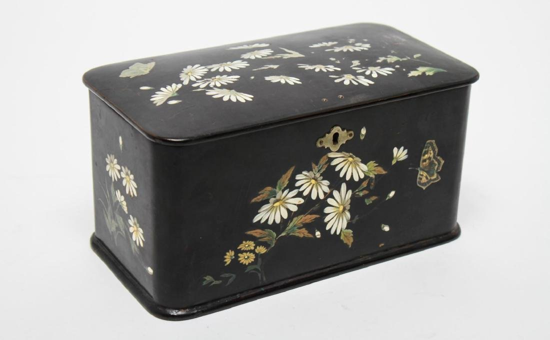 Victorian Japonaise Lacquer Tea Caddy - 2