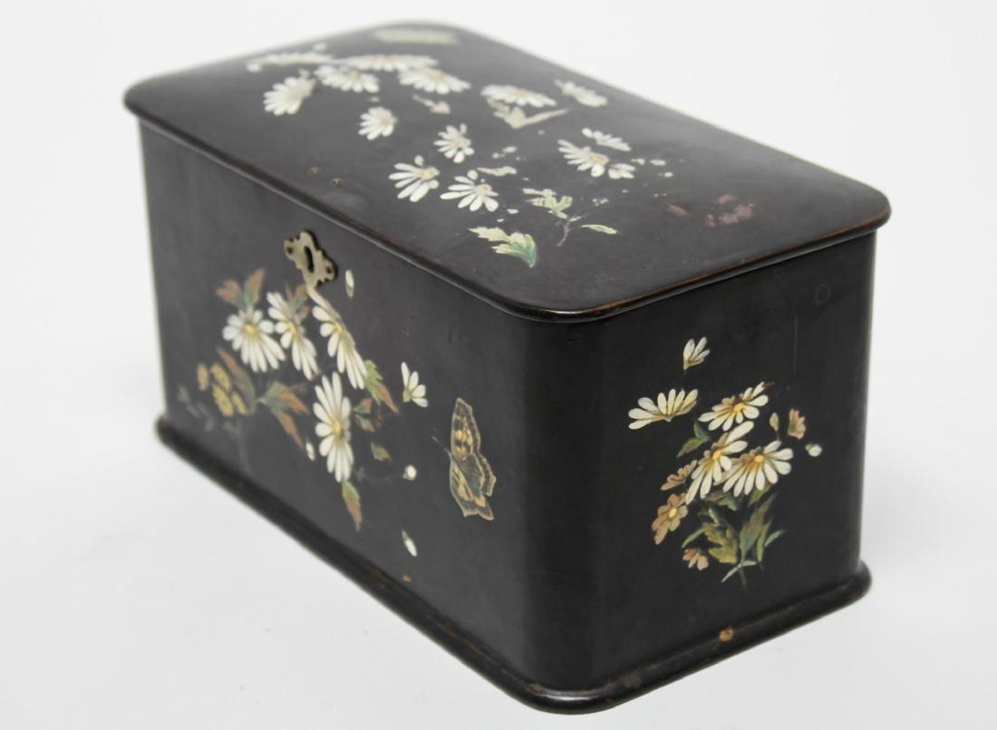 Victorian Japonaise Lacquer Tea Caddy - 3