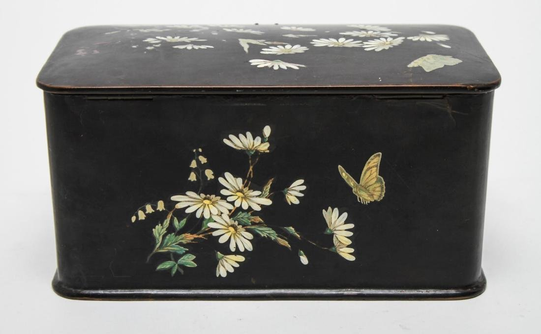 Victorian Japonaise Lacquer Tea Caddy - 4