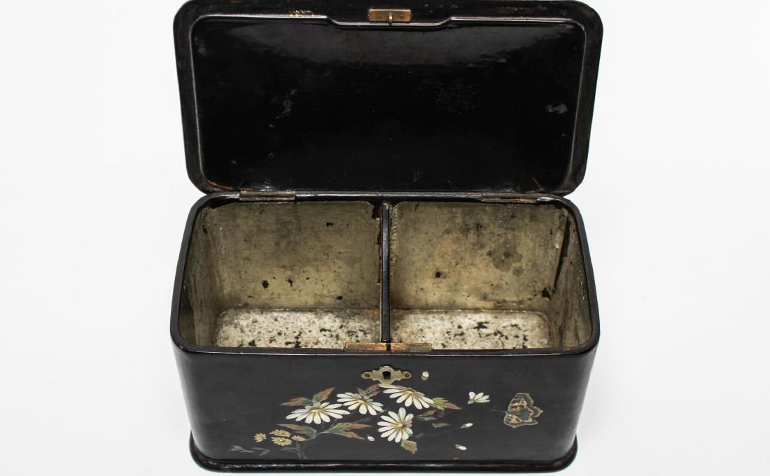Victorian Japonaise Lacquer Tea Caddy - 6