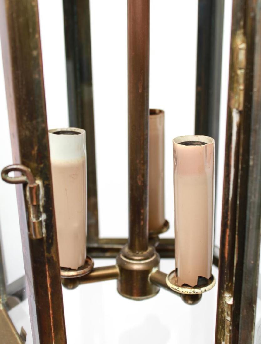 Pagoda Brass Lantern 3-Light Hanging Fixture - 4