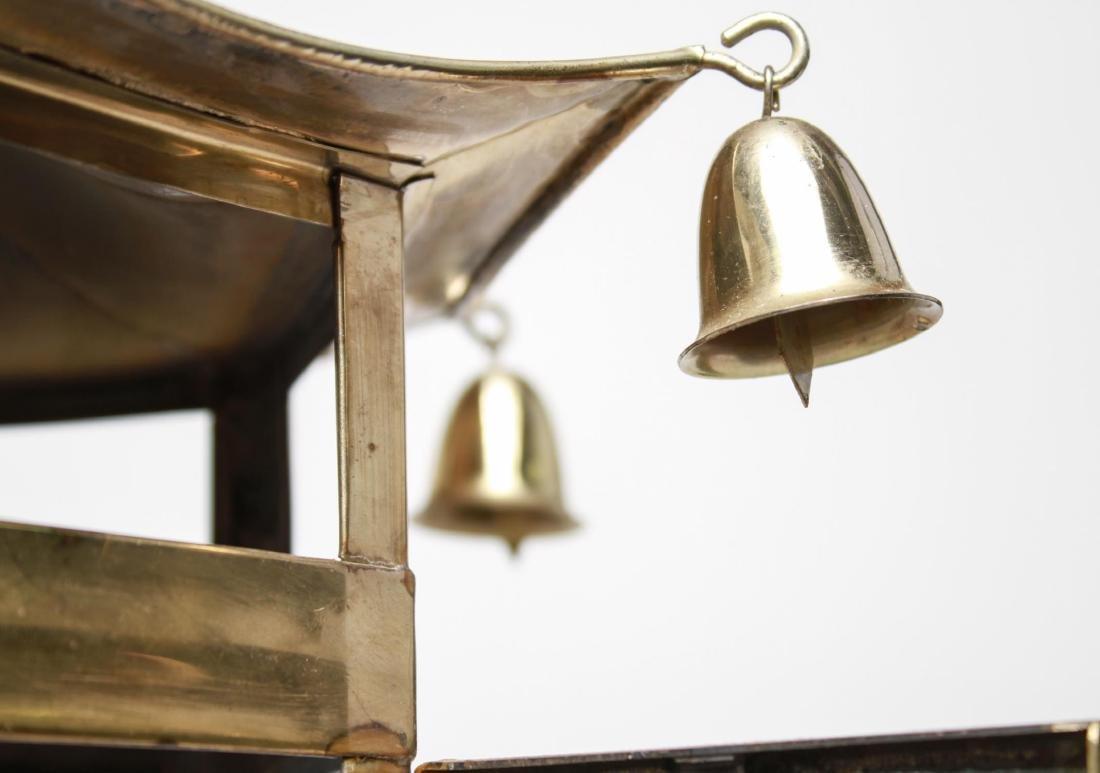 Pagoda Brass Lantern 3-Light Hanging Fixture - 3