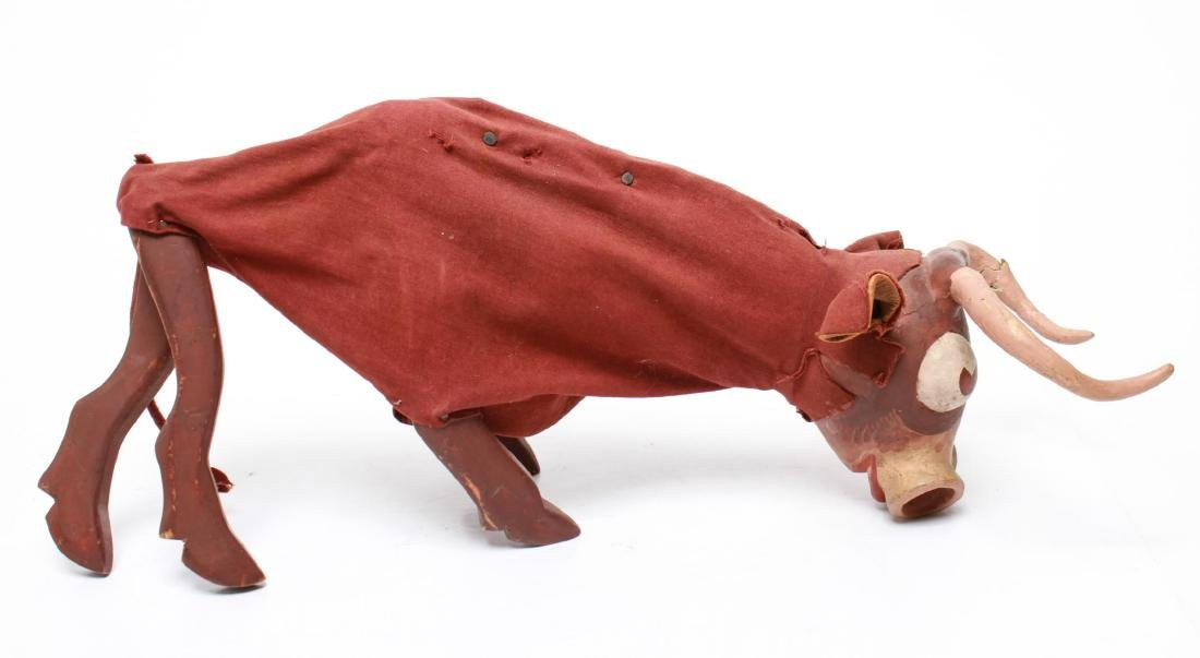 Bil Baird, Bull Puppet Marionette- Wood & Cloth