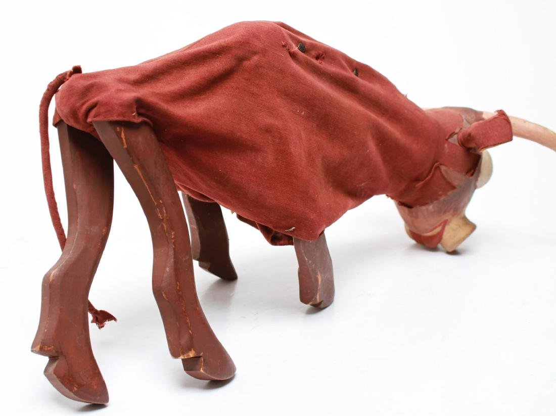 Bil Baird, Bull Puppet Marionette- Wood & Cloth - 4