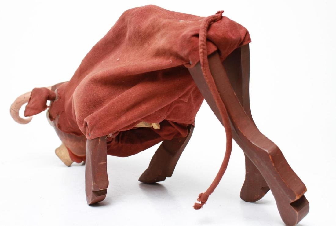 Bil Baird, Bull Puppet Marionette- Wood & Cloth - 5