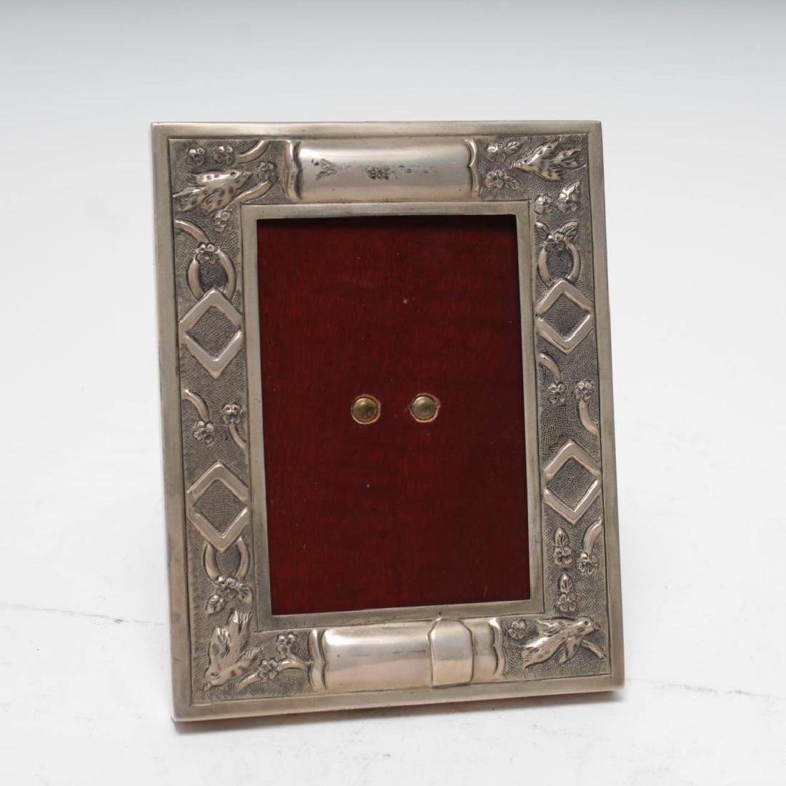Mexican Sterling Silver Picture Frame, Bird Motif - 2