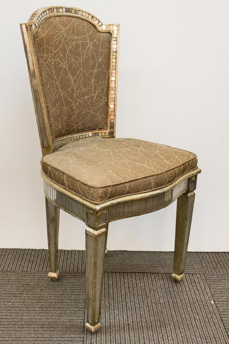 Hollywood Regency Mirrored Vanity Chair