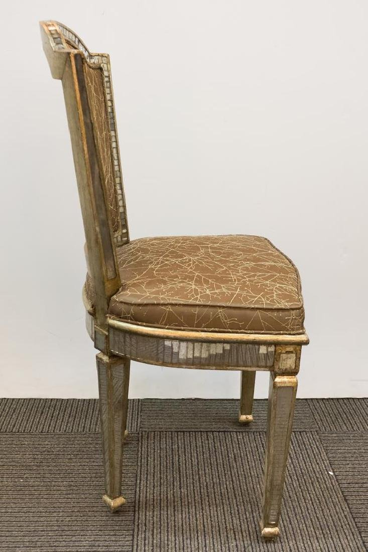 Hollywood Regency Mirrored Vanity Chair - 3