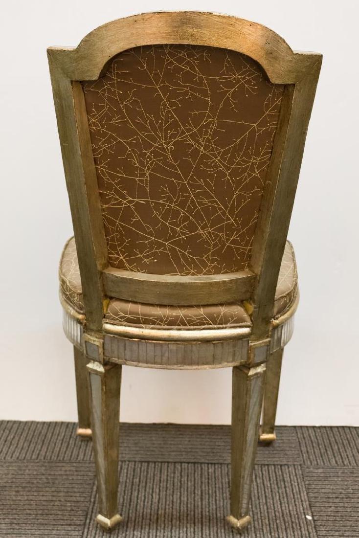Hollywood Regency Mirrored Vanity Chair - 4