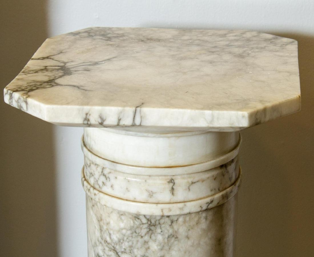 Continental Carved Marble Display Column, Antique - 2