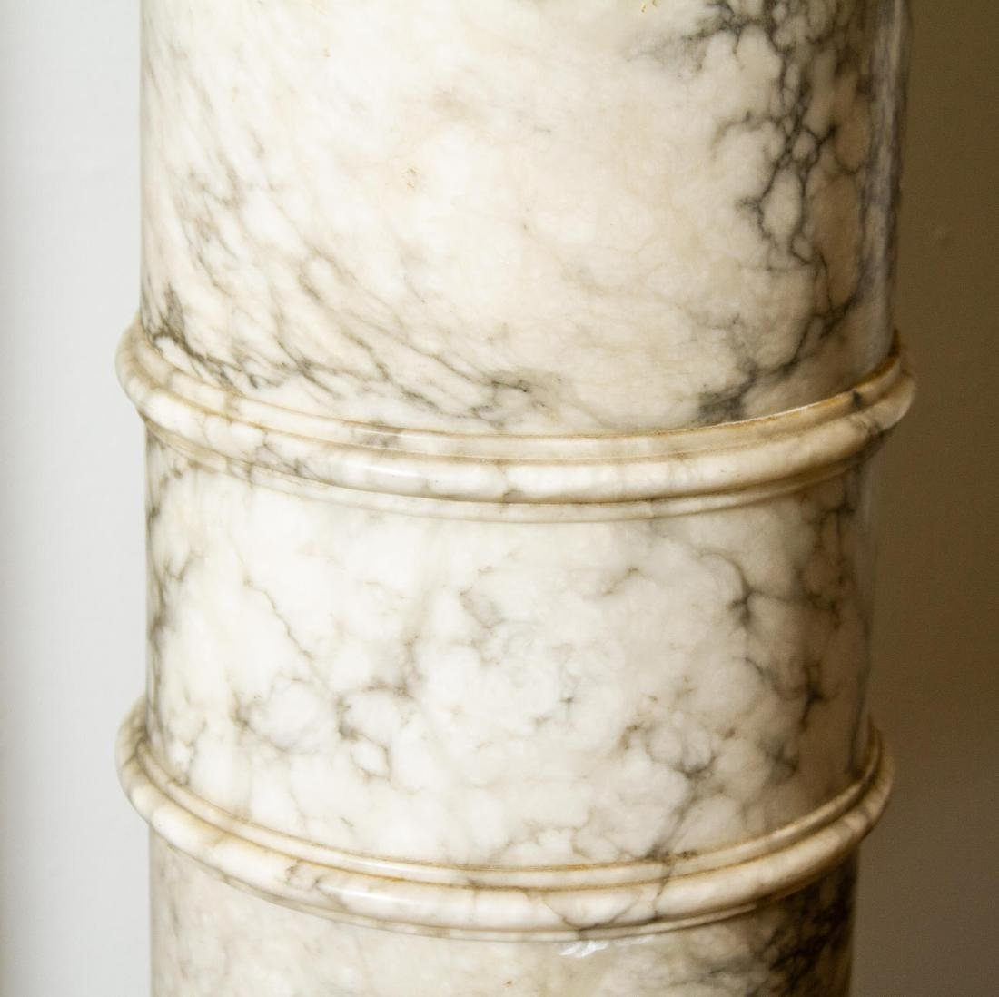 Continental Carved Marble Display Column, Antique - 3