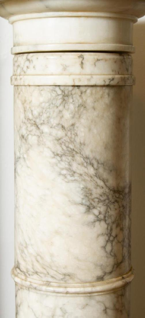 Continental Carved Marble Display Column, Antique - 4