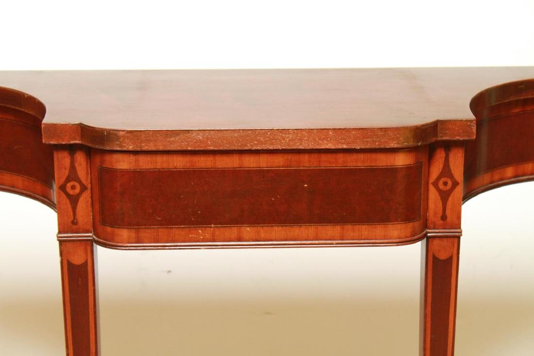 Parquetry Shaped Console Table, Small Vintage - 2