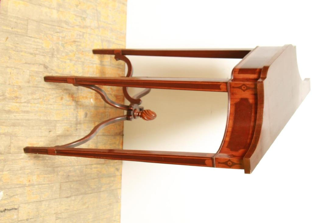 Parquetry Shaped Console Table, Small Vintage - 6