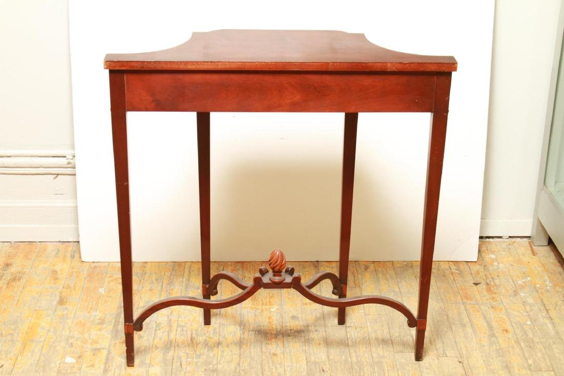 Parquetry Shaped Console Table, Small Vintage - 7